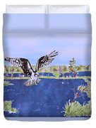 Osprey At Tuttle Marsh Duvet Cover