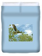 Osprey In Flight Duvet Cover