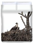 Osprey On A Nest In The Everglades Duvet Cover