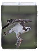 Osprey With Fish Duvet Cover