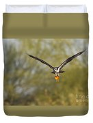 Osprey With Goldfish Duvet Cover