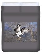 Osprey With Walleye Fish Duvet Cover