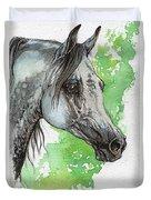 Ostragon Polish Arabian Horse Painting 1 Duvet Cover