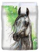 Ostragon Polish Arabian Horse Painting   Duvet Cover