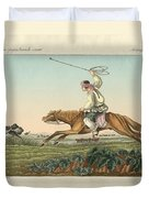 Ostrich Hunting Duvet Cover