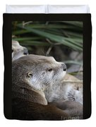 Otter And Family Duvet Cover