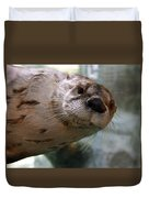 Otter Be Lookin' At You Kid Duvet Cover by John Haldane