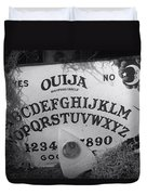Ouija Board Queen Mary Ocean Liner Bw Duvet Cover