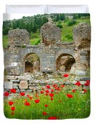 Our Entry Into Ephesus And Its Baths-turkey Duvet Cover