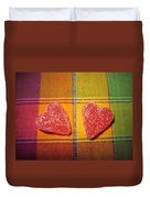 Our Hearts On The Table Duvet Cover