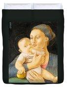 Our Lady Nursing The Child Duvet Cover