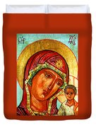 Our Lady Of Kazan Duvet Cover
