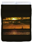 Our Lady Of The Harbor Duvet Cover