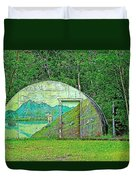Our Lady Of The Way Quonset Hut Chapel In Haines Junction-yt Duvet Cover