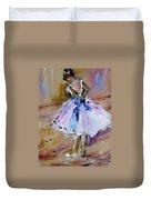 Our  Ballerina Girl Painting Duvet Cover