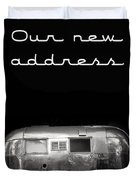 Our New Address Announcement Card Duvet Cover