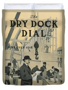 Our New Dry Dock Duvet Cover by Edward Hopper