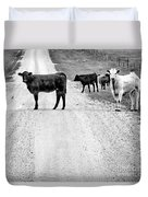 Our Way Or The Highway Bw Duvet Cover