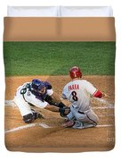 Out At The Plate Duvet Cover