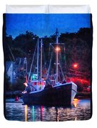 Out Before Dawn Duvet Cover