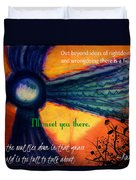 Out Beyond Ideas Duvet Cover by Catherine McCoy