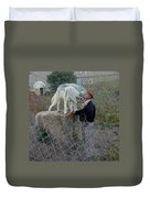 Out Of Africa  Friendly Wolves Duvet Cover