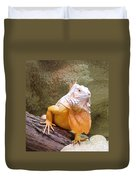 Out Of Africa Orange Lizard 1 Duvet Cover