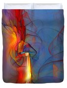 Out Of The Blue-abstract Art Duvet Cover
