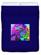 Out Of The Blue Wave Abstract Duvet Cover