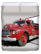 Out Of The Photo Fire Truck Duvet Cover