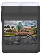 Out Running The Storm At The Dolphin Resort Duvet Cover
