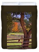 Out To Pasture Duvet Cover by Joann Vitali
