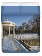 Out To The Gazebo Duvet Cover
