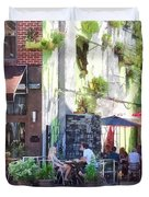 Outdoor Cafe Philadelphia Pa Duvet Cover