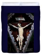 Outdoor Display Of The Crucifixion Of Christ Duvet Cover