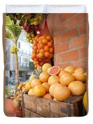 Outdoor Fruit Juice Stall  Duvet Cover