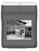 Outdoor Laundry Bw Palm Springs Duvet Cover