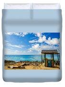 Outdoor Tropical Bar And Souvenirs Duvet Cover
