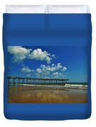 Outer Banks Pier South Nags Head 1 5/22 Duvet Cover