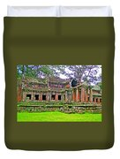 Outer Building Of Angkor Wat In Angkor Wat Archeological Park Near Siem Reap-cambodia  Duvet Cover