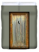 Outhouse Door Duvet Cover