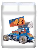 Dirt Track Racing Outlaw 42 Duvet Cover