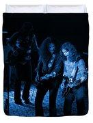 Outlaws #25 Crop 2 Blue Duvet Cover