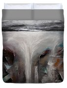 Outpour 2 Modern Waterscape Original Painting On Canvas Duvet Cover