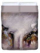 Outpour Modern Contemporary Abstract Original Painting On Canvas Duvet Cover