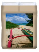 Outrigger Beach Duvet Cover