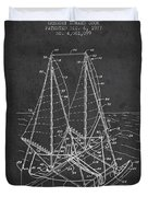 Outrigger Sailboat Patent From 1977 - Dark Duvet Cover