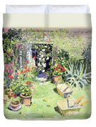 Outside Looking In, 1991 Wc On Paper Duvet Cover