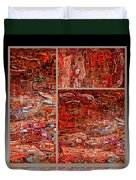 Outside The Box - Abstract Art Duvet Cover