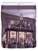 Outside The Theatre Royal, Drury Lane Duvet Cover